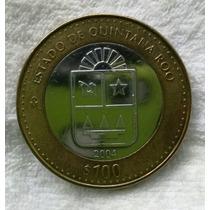 Moneda De 100 Pesos Del Estado De Quintana Roo
