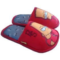 Pantuflas 22-26 Bart Simpson Originales, Envoltura Y Envío