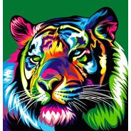 Lienzo Pinta Por Números Tigre Colorido Grupo Educar