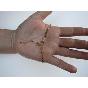 Pulseira Terço De Mão Ouro 3mm 18k C/.3 Microns Rf:007