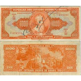 Cédula 1000 Cruzeiros 1948 Autografada