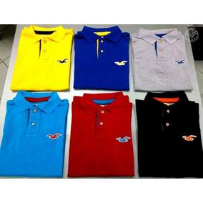 Camisa Camiseta Gola Polo Hollister Varias Cores Promoção!!