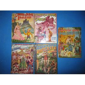 Coleção 5 Livros Os Mais Belos Contos De Fadas Vecchi Raros
