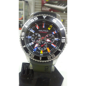 Reloj Nautica Modelo-wr100m/330ft Con Extensible De Caucho