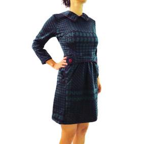 Vestido Verde Y Negro - Modelo Peggy - Diseño Independiente