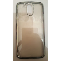 Funda Protector Caucho Flexy Glass Cromo Moto G4 Plus