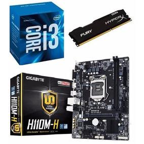 Kit Mb Gigabyte H110m-h + Proc. I3 7100 + Mem 8gb - Testado