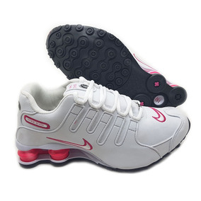 23b383552 Nike Shox Nz 4 Molas - Tênis Branco no Mercado Livre Brasil