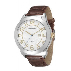 Relógio Masculino Mondaine 99018g0mvnh2 Pulseira De Couro