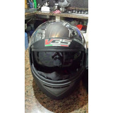 Casco Integral Negro Mate Doble Visor V35. Talla Xl