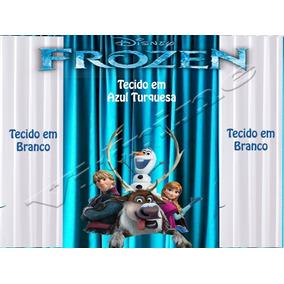 4 Cortina 1,50x2.20 Frozen Festa Aniversario Infantil Loja