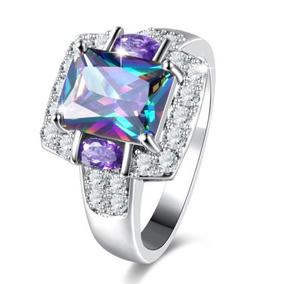 Anel Solitario Pedra Colorida - Anéis com o melhor preço no Mercado ... 3f10673d10