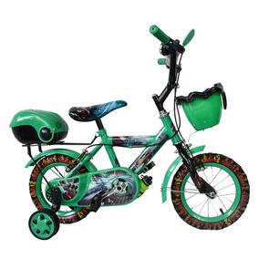 Bicicleta Para Niño Rin12 Verde Plt Deluxe
