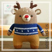 Sonajero Reno Crochet - Tienda Nariz De Azúcar