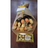 Ramo De 12 Rosas Y Bombones Ferrero Envio Gratis Floreria