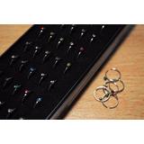 Piercing Nariz Argolla C/ Strass Color Acero Quirurgico X 40