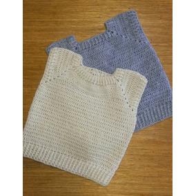 Chaleco Bebe Crochet Artesanal Tejido Sweter Sin Mangas