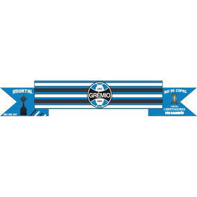 Adesivo Decorativo Parede Quarto Porta Banner Grêmio Faixa