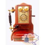 Telefono De Madera Tipo Vintage Pared Antiguo