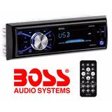 Auto Estereo Boss Aux Mp3 Usb Ipod Mp3 Sd Nuevo 200w Potente