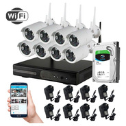 Kit Seguridad Tomsan Wifi Dvr/nvr + 8 Camaras + Hd 1 Tb
