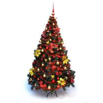 Árbol De Navidad Premium 2,50 Con Adornos Rojo/oro. El Mejor