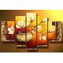 Wieco Art 5-piece Botella De Oro Flores Elegantes Estir...