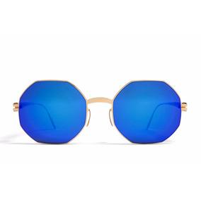 Gafas Mykita Ursula Azul Dorado Unisex Original Envío Gratis