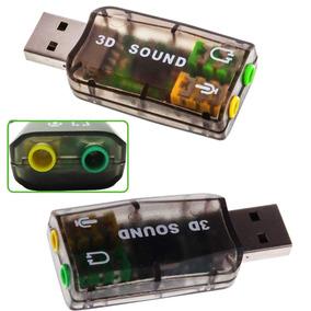 Tarjeta Sonido Usb 5.1 Canales Adaptador Audio Virtual 3d