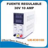 Fuente De Alimentacion Digital Regulable 30v 10a - Lw-k3010d