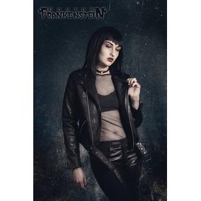 Chamarra Rocker Gótico Dark Punk Metal Nugoth Mujer Moda