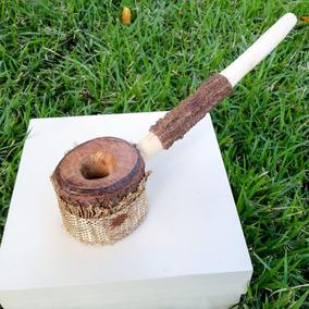 Cachimbo Jurema Preta Dourado Indígena Ritual Xamânico