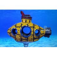 Enfeite Aquário Toca Submarino Amarelo Yellow Submarine
