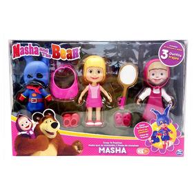 Conjunto De Bonecas - Masha E O Urso - Masha Com Roupinhas T
