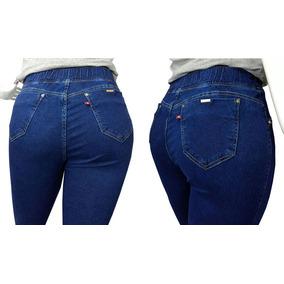 Legging Plus Size Calça Jeans Cós Alto Roupas Femininas