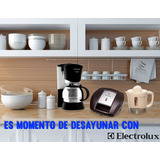 Combo Desayuno Electrolux: Cafetera + Sandwichera + Exprimid