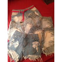 Lote De 5 Shorts Jean + 2 Shorts Blanco + 3 Cinturones