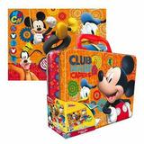 Mickey Mouse Maleta Metálica Y Puzzle