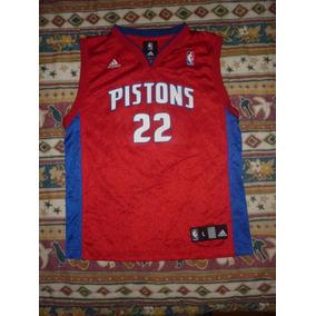 E Camiseta Detroit Pistons adidas Talle L Chico 14-16 Art 52