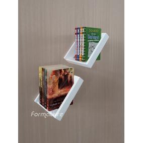 Prateleira Nicho Porta Livros Decorativo Branco Laca 2 Pçs