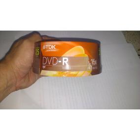 Pack De 25 Dvd-r Marca Tdk Sellados