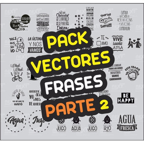 Pack Vectores Frases Para Frascos Botellas Y Pared 2