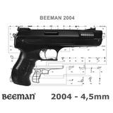 Pistola Pressão Beeman 2004 4,5mm + Maleta + Chumbinhos