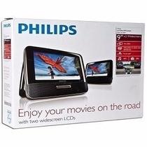 Nuevo Dvd Player Portatil Philips Con 2 Pantallas 9 Pulgadas