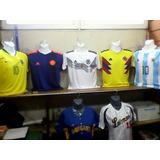 Franelas De Brasil Argentina Colombia Alemania Mundial 2018