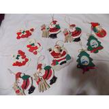Enfeites Para Arvore De Natal Em Tecido E Madeira