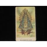 Estampa Religiosa Plastificada De La Virgen De Lujan