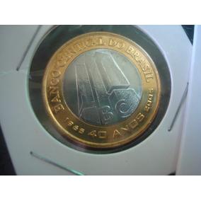 Moeda De 1 Real Ano 2005 Comemorativa Aos 40 Anos Do Bc - Fc