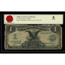 Antiguo Dolar Aguila Negra. Año 1899. Certificado Sg