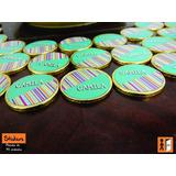 Stickers Monedas De Chocolate Personalizados Candy Bar